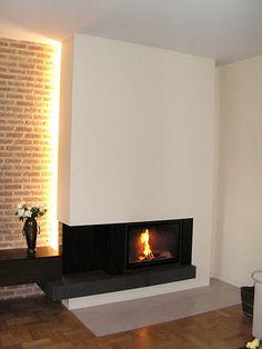 Modern Fireplace. Kominek nowoczesny z podświetleniem. #ModernFireplace #KominekNowoczesny