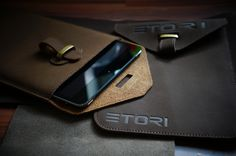 ETORI Leather sleeve for you iPad Air or iPad Mini / Meet ETORI, Made from Italian full grain leather, this case combines beautiful design with the finest materials available, and not to forget flawless functionality, and protection for you iPad.  http://thegadgetflow.com/portfolio/etori-leather-sleeve-ipad-air-ipad-mini/
