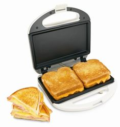 Fast and simple to use Nonstick simple clean level grids Power on/preheat lights Cord wrap Compact, upright storage Proctor-Silex Sandwich Maker white, best offer Sandwich Maker Recipes, Breakfast Sandwich Maker, Sandwich Toaster, Eat Breakfast, Cool Kitchen Gadgets, Cool Kitchens, Specialty Appliances, Kitchen Appliances, Small Appliances