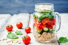 Mediterranean Barley Salad with Garbanzo Beans