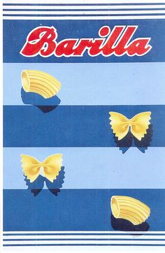 Vintage Barilla Pasta Ads by Erberto Carboni Vintage Packaging, Vintage Labels, Packaging Design, Vintage Italian Posters, Pub Vintage, Vintage Food Posters, Retro Poster, Poster Vintage, Vintage Graphic Design