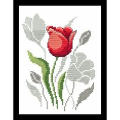 Spring flowers – tulips pattern for cross stich , Tulip with shadow PDF - Arts & Crafts - Spring flowers – tulips pattern for cross stich , Tulip with shadow PDF Spring flowers tulips pattern for cross stich Tulip with Cross Stitch Pillow, Just Cross Stitch, Cross Stitch Heart, Cross Stitch Flowers, Modern Cross Stitch Patterns, Counted Cross Stitch Patterns, Cross Stitch Embroidery, Wedding Cross, Pixel Pattern