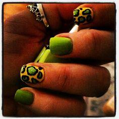 Summer cheetah #nails