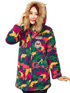 Sale 27% (44.59$) - Casual Hooded Camouflage Thick Velvet Cotton Padded Women Coat