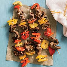 Beef and Bell Pepper Kebabs | CookingLight.com #myplate #veggies #protein