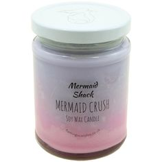 Mermaid Crush Purple/Pink Ombre Candle - Mermaid Shack - Scented Candles  - Flamingo Candles