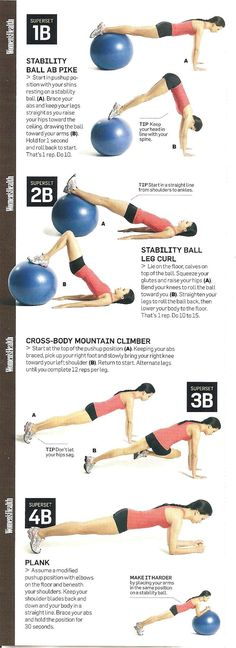 stability ball abs