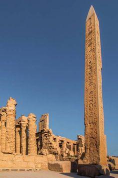 Hatchepsut's obelisk, Temple Of Karnak, Luxor, Egypt #Egypt