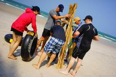 Raft Building Team Building. Castaway Hua Hin, Pattaya, Phuket Thailand. Although you are guaranteed to get wet with this fun team building event is ideal