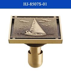 $33.30- 4 10*10Cm Euro Square Antique Brass Art Carved Flower Bathroom Sanitary Floor Drain Waste Grate Drain Sink Hj8507S