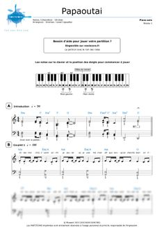 Partition piano Papaoutai (Stromae) | Sheet Noviscore