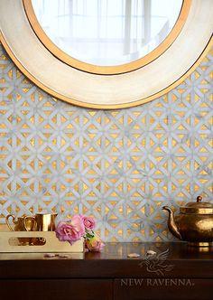 Joie stone water jet mosaic - Aurora™ Collection   New Ravenna