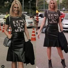 zpr Olha #anahickmann lacrando  com  a  composição da T-shirt com saia de couro . Babei por esse look e você ?  ☆★☆ Fique de olho aqui e na loja virtual , breve a pré -coleção disponível  para venda na  @pandorastorees . - http://www.facebook.com.br/pandorastorees  #modafeminina #modacapixaba #modacontemporanea #lookdodia #tshirtfeminina  #modacasual #moda #producaodemoda #tshirt #tshirtdesign #blogueirascapixabas #ecommerce #ecommercebrasil #ecommercemoda #lojaonline #pandora #pandorastore…