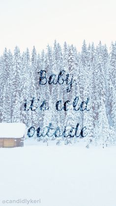 Baby its Cold outside snowy cabin blue snow background wallpaper you can download for free on the blog! For any device; mobile, desktop, iphone, android!  FREE CHRISTMAS WALLPAPER DOWNLOAD