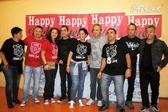 Photocall Happy Luck en el backstage de Hombres G del concierto de Valencia