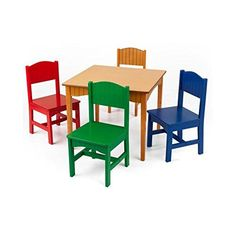 KidKraft Nantucket Kids 5 Piece Table  Chair Set Kids Activity Table Set Primary >>> Want to know more, click on the image.