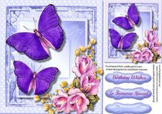 Beautiful lilac Butterfly on the Wing  on Craftsuprint - Add To Basket!