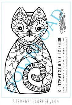Kittie Kat Stuffie | A FREE Printable - Stephanie Corfee