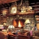 I want a huge stone fireplace in my home.