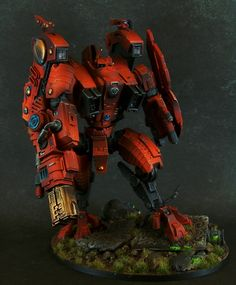 I've always been Tau curious and I'm glad I could take a look under the curtain :) So big and red. Tau Warhammer, Warhammer Armies, Warhammer Paint, Tau Army, Tau Empire, Imperial Knight, Necron, Tyranids, Warhammer Models