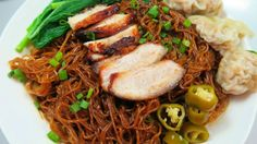 Wonton Noodles: Wantan Noodles 干捞云吞面