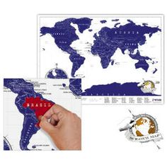 A scratch map, I've been wanting to figure out how to make this, because its perfect for gifts and I've heard that the ones you buy aren't usually accurately lined up once you scratch it off.