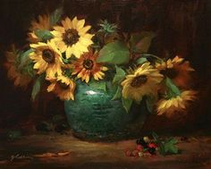 The Art of Painting Sunflowers by Elizabeth Robbins