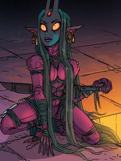 Evil Girl, Kid N Teenagers, Comic Artist, Girl Cartoon, Deadpool, Fantasy Art, Comic Books, Superhero, Comics