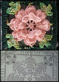 Crochet Granny Square Pattern Beautiful 20 Ideas For 2019 Best Picture For Crochet crafts For Your Taste You are looking for something, and it is. Crochet Flower Squares, Flower Granny Square, Crochet Motif Patterns, Crochet Mandala Pattern, Crochet Diagram, Crochet Chart, Crochet Flowers, Crochet Stitches, Granny Squares
