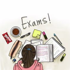 I hate exam study school😣😒👎💔📝📚 on We Heart It Cartoon Girl Images, Girl Cartoon, Cartoon Art, Cartoon Sketches, Exam Wallpaper, Studying Girl, Sarra Art, Exam Quotes, Math Quotes