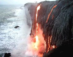 Breathtaking Hawaii. Fire and water.