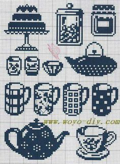 Cross Stitch Needles, Cross Stitch Embroidery, Perler Patterns, Crochet Patterns, Cross Stitch Designs, Cross Stitch Patterns, Fillet Crochet, Cross Stitch Kitchen, Tapestry Crochet