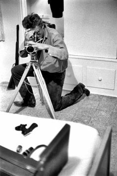 James Dean with his tripod.