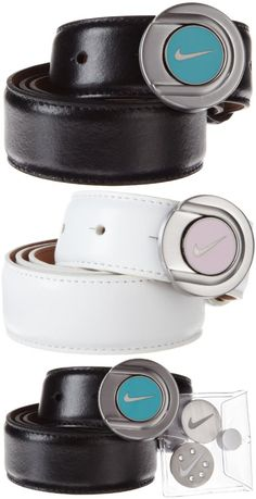 Nike Golf Women's Ball Marker Belt - Perforations make this belt a fashion forward pick it is made of a soft glove leather signature nike swoosh emblem - Belts - Apparel -