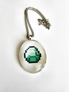 Diamond Necklace Minecraft Gaming Geek. $16.00, via Etsy.