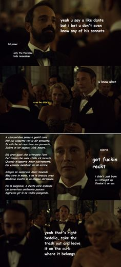 Hannibal must be from the 9th circle of hell because dude is ice cold. Source: mean-cannibals.tumblr
