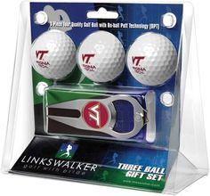 Virginia Tech Hokies - 3 Ball Gift Pack with Hat Trick Divot Tool