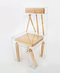 "huestockholm: "" Joyce Lin - Exploded Chair """