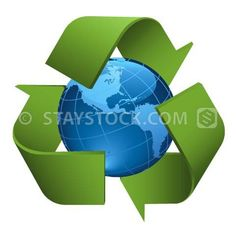 Recycle Blue earth symbol