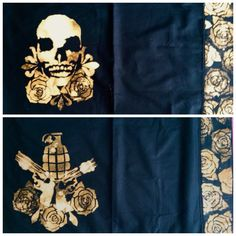 Freeloadapparel #pillowcase #bleacheddesign #homedecor #stencil #weapons #textiles #handmade #freeloadapparel #grande #roses