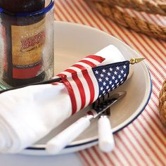 Add bunting to your porch to welcome guests this 4th of July: http://www.bhg.com/holidays/july-4th/decorating/easy-diy-decorations-for-the-4th-of-july/?socsrc=bhgpin060114diybunting&page=19