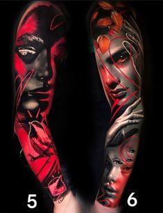 Body Art Tattoos, Sleeve Tattoos, Cool Tattoos, World Famous Tattoo Ink, Art Forms, Tattoo Inspiration, Tattos, Tattoo Designs, People