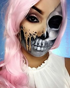 Melting skeleton, Halloween makeup, Sfx makeup