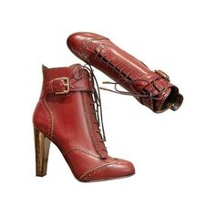 Dolce & Gabbana shoes, Code: dg079w-co8024-a3157-80025, Main... (€920) ❤ liked on Polyvore featuring shoes, boots, heels, botas, brown leather boots, real leather shoes, leather shoes, metal boots and heel boots