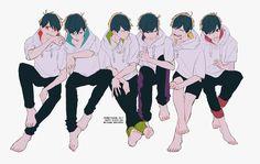 Osomatsu-san || Osomatsu, Karamatsu, Choromatsu, Ichimatsu, Jyushimatsu, Todomatsu.