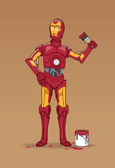 Iron Droid Art Print by See Mike Draw | Society6