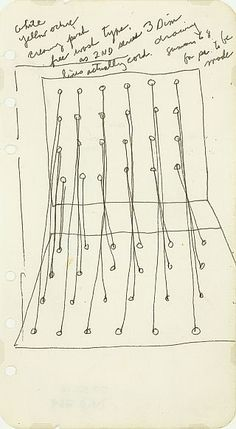 Eva Hesse, Untitled drawing, 1967-68, graphite and ink