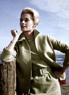 Tippi Hedren, photographed as Melanie Danielsfor Hitchcock's The Birds (1963)