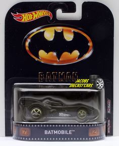 1:64  HOT WHEELS RETRO ENTERTAINMENT DMC55-956A - BATMAN BATMOBILE #HotWheels #Batmobile