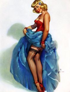 """On the Run"" by Gil Elvgren 1951 http://kck.st/xttDu7"